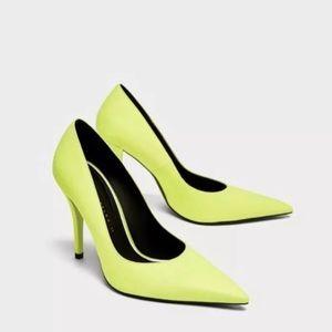 f50b8cfd51b Zara Shoes - Zara yellow high heel court shoes